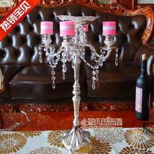 New European luxury crystal pendant high creative wedding special birthday candle holders Home Furnishing furnishings