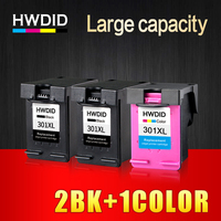 HWDID Refilled 301XL Ink Cartridge Replacement for HP 301 XL CH561EE CH562EE for HP Deskjet 1000 1050 2000 2050 2510 Envy 5530