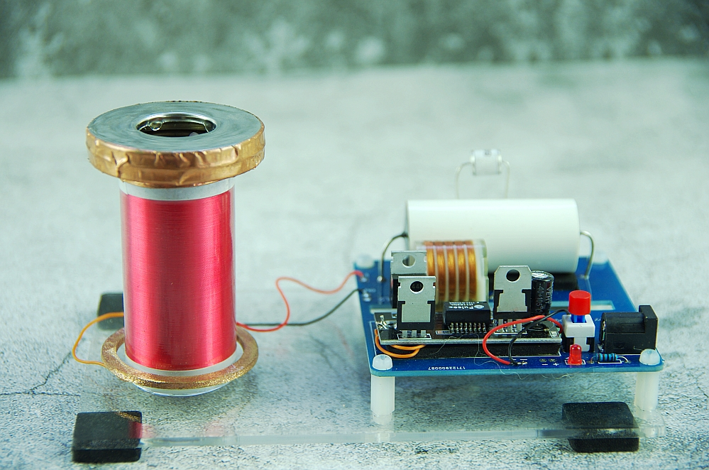 mini SGTC Spark gap Tesla Coil amazing flashing Generator DIY KITS Electronic diy