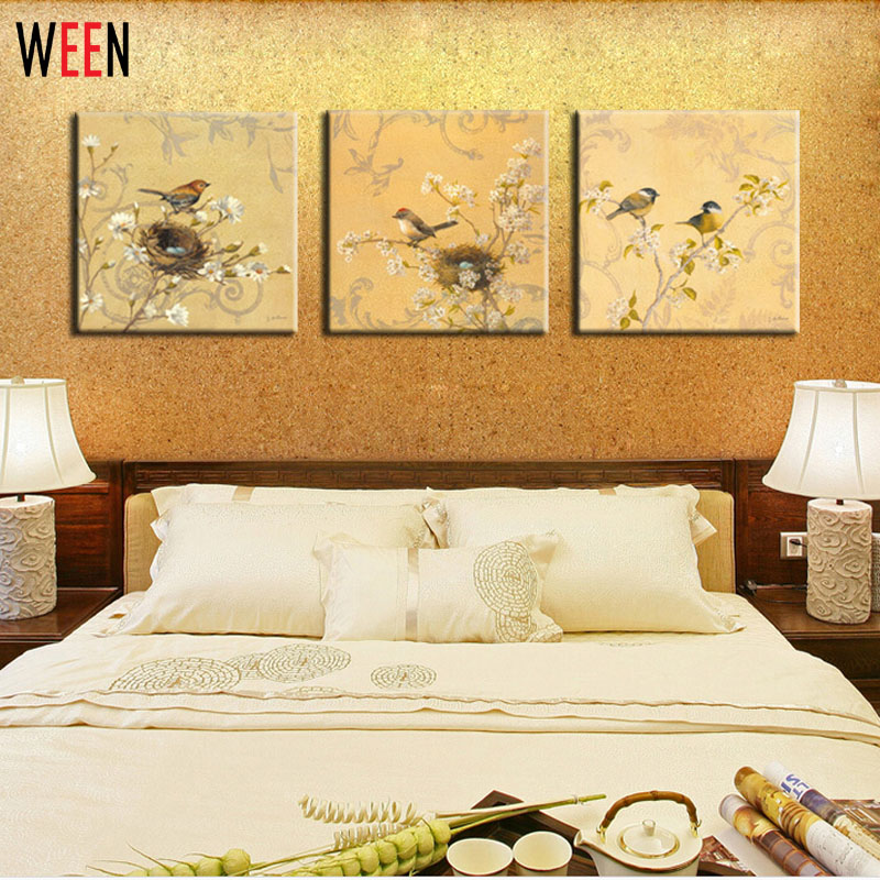 Online get cheap 3 piece wall art canvas for Cheap house decor online
