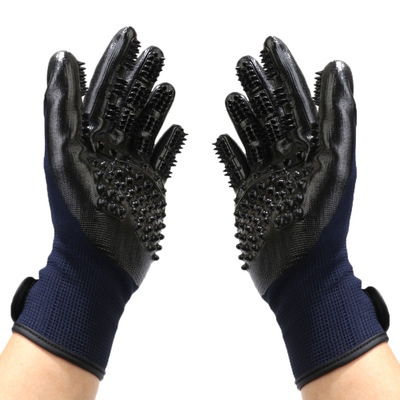 Pet Grooming Glove For Dogs Cat Cleaning For Pet Dog Hair Deshedding Brush Comb Glove Finger Cleaning Bathing Glove For Animals