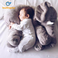 Newest Large Soft Plush Elephant Pillows Kids Toy Sleeping Back Cushion Elephant Doll Baby Dolls Lumbar