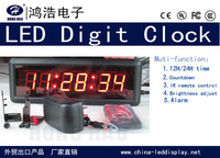 12/24H time LED CLOCK,Countdown LED Clock,wall mounting ,6digits,for sport,timing,free shipping