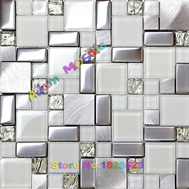 Subway azulejo blanco brillo cristal del azulejo del mosaico ...
