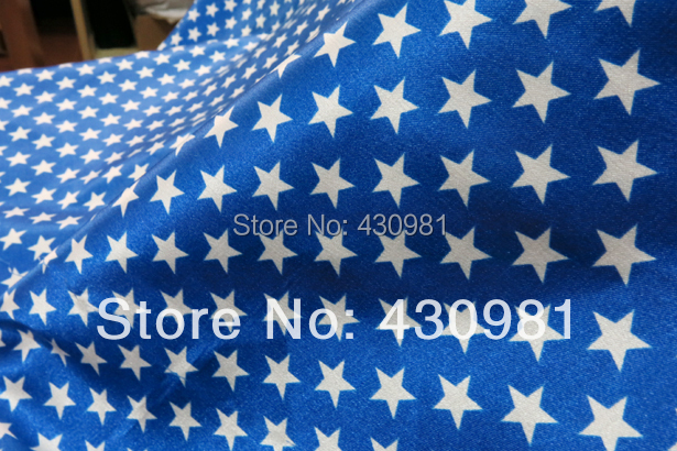 Blue Curtains blue curtains with white stars : royal blue satin fabric geometric stars print material curtains ...