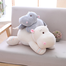 1pc 28/40/50cm Kawaii Hippo Plush Dolls Stuffed Soft Down Cotton Animal Pillow Cute Toy Birthday Christmas Gift for Children Kid стоимость