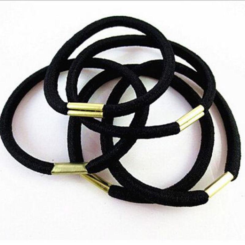10 шт./лот черные волосы держатели эластичность резины диапазон волос галстук волос для девочек Для женщин/аксессуары для волос
