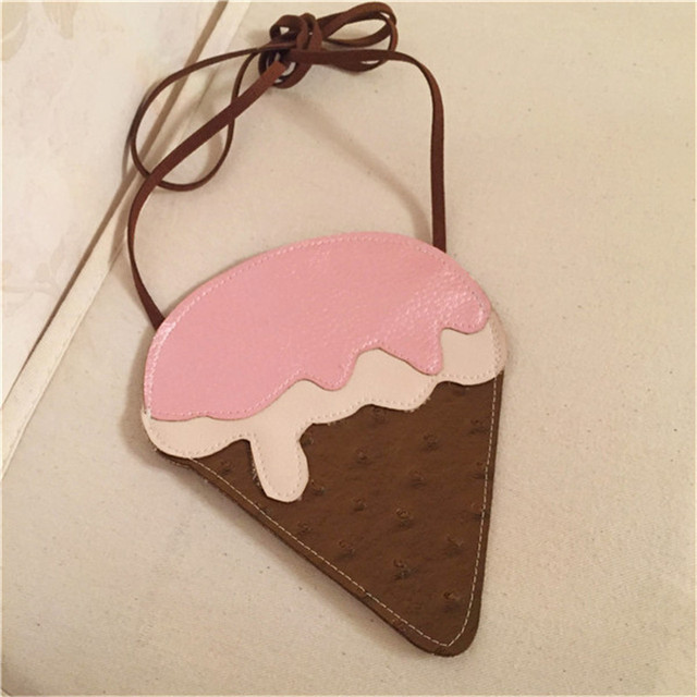 2019 Creative Style Woman Kawaii Ice Cream Cupcake Single Shoulder bags Cute Cartoon Small Coin Purse New 3D Messenger Bags