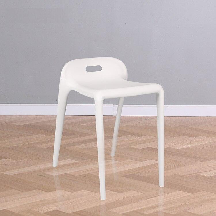 Minimalist Modern Plastic Stackable Stools Dining Room