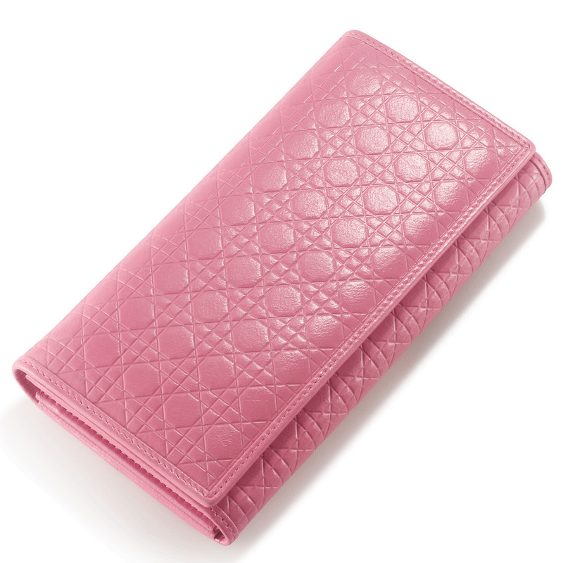 Fashion Ladies Wallet Genuine Leather Plaid Clutch Korean Version of The Three Fold Women s Wallet
