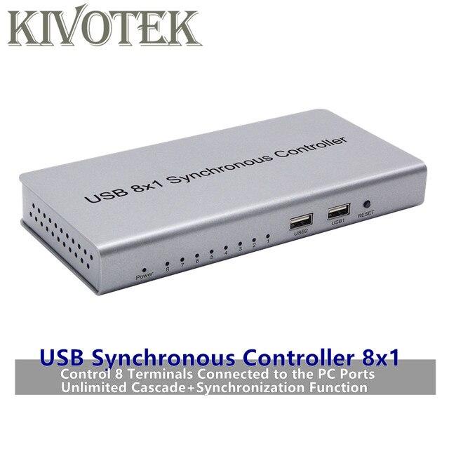 Adaptador USB Controlador Síncrono 8x1 USB2.0 A B Masculino Conector Repetidor Para Jogos PC Keyboard Rato KVM Extender Livre grátis