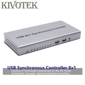 Image 1 - USB di Controllo Sincrono Adattatore 8x1 USB2.0 A B Maschio Connettore Ripetitore Per I Giochi PC Tastiera Mouse KVM Extender Spedizione trasporto libero
