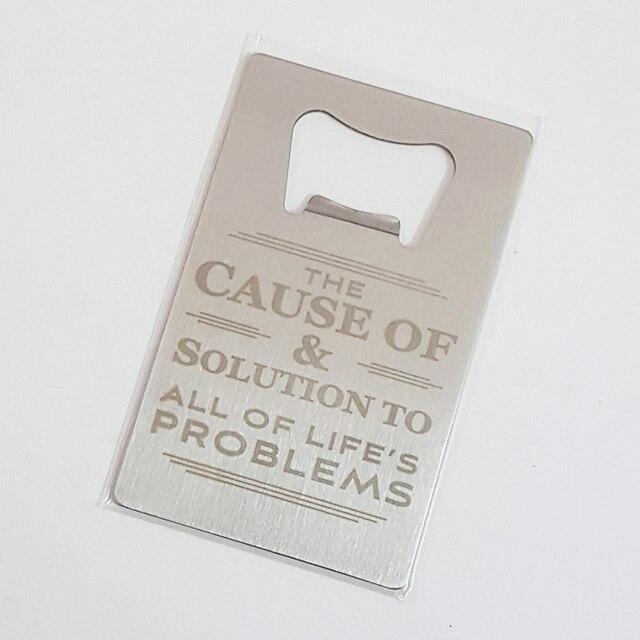 Wedding Gift Credit Card : Credit Card Bottle Openers Custom Engraved Bride & Groom Wedding ...