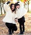 2017 Outono Inverno Meninas faux Fur Crianças casaco Outerwear Jaqueta quente Casacos Criança Roupas Espessamento Outerwear Topos Quentes