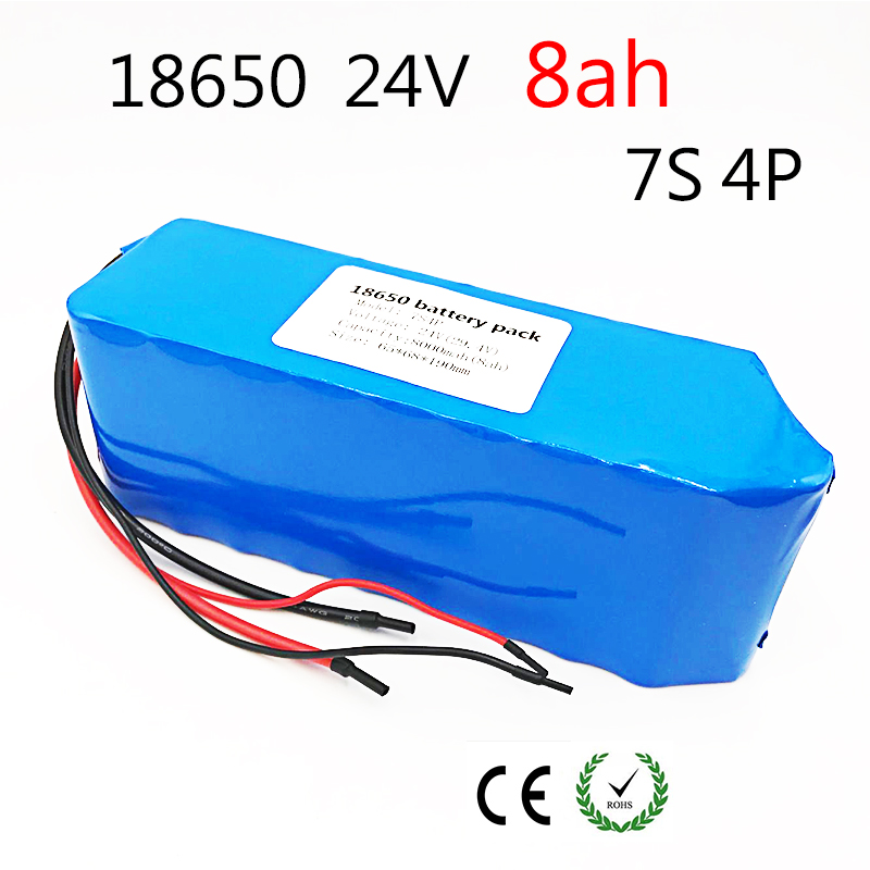 Laudation DC 24V 8ah 7S4P <font><b>batteries</b></font> 15A BMS 250W 29.4 V 8000 mAh <font><b>Battery</b></font> for motor chair set Electric Power image