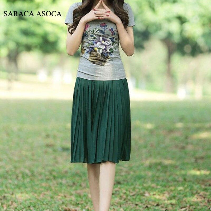 Groothandel 22 kleuren match super geplooid chiffon rok moslim - Dameskleding - Foto 4