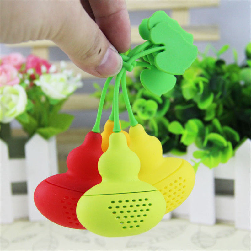 New Cute Creative Silicone Tea Leaf  Strainer Calabash Tea Infuser Diffuser Loose  Herbal Filter Free Shipping