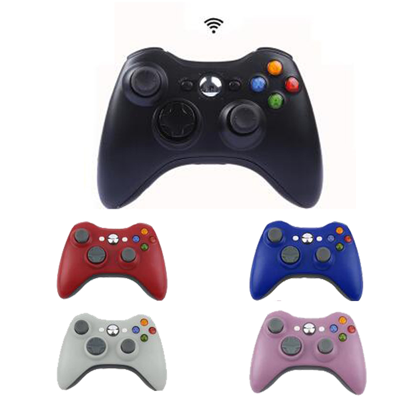 2.4G Wireless Gamepad For Xbox 360 Console Controller Receiver Controle For Microsoft Xbox 360 Game Joystick For PC win7/8/10 bluetooth wireless gamepad controller for microsoft xbox one slim console gamepad pc joypad game joystick for pc win7 8 10