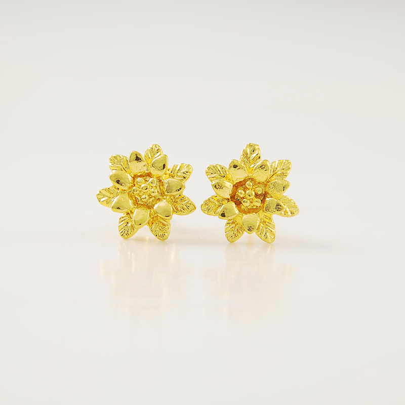 Beautiful little yellow flowers 24k gold cover stud earrings great beautiful little yellow flowers 24k gold cover stud earrings great gift for womengirls jewelry free shipping in stud earrings from jewelry accessories on mightylinksfo