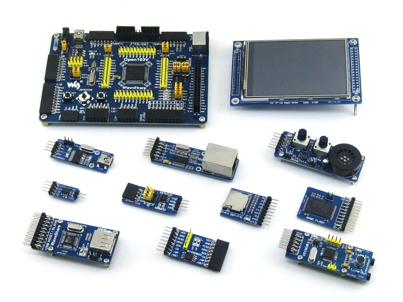 Parts STM32 Board STM32F103VET6 STM32F103 ARM Cortex-M3 STM32 Development Board +10pcs Accessory Modules=Open103V Package B module stm32 arm cortex m3 development board stm32f107vct6 stm32f107 8pcs accessory modules freeshipping open107v package b