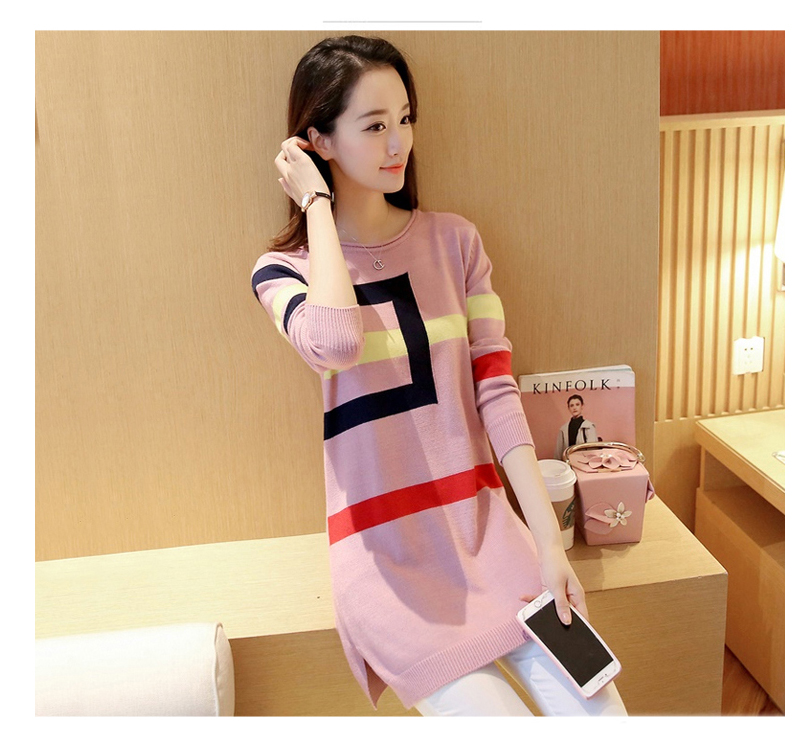 18 DRL sweater women Basic woman sweater pullovers long sleeve Jumper Long Sleeve Sweaters Autumn Winter pull femme hiver 5