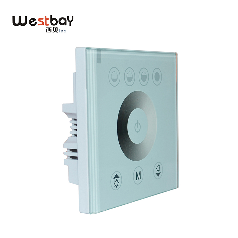 Westbay LED Dimmer Switch Panel Glass Touch Switch Adjustable Controller For DIY Lighting White Color Wall Switch Light Switch westbay touching panel led dimmer switch at 12v 24v 144w 12a or 288w 6a power switch on off adjustable light controller