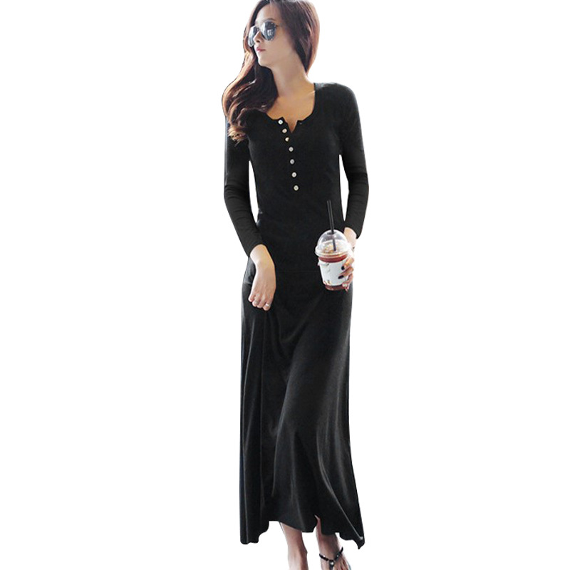 BOBOKATEER long black dress women party winter dresses sexy club <font><b>vestidos</b></font> <font><b>largos</b></font> de <font><b>verano</b></font> casual dresses ropa de <font><b>mujer</b></font> <font><b>2019</b></font> image