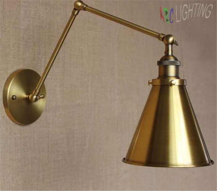 Gold Plated Wall Lights Bells Lamp European  American Style Metal Bell Wall Lights Creative Indoor Bedside Mirror Lights