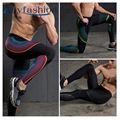 2017 Men Pants Compress Gymming Leggings Men Fitness Workout Leggings Summer Sporting Thin Strip Fitness Male Long Pants