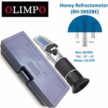 OLMIPO Honig biene Refraktometer beekeeking 58-92% Brix 13-27% wasser 38-43% baume honig feuchtigkeit tester homebrew