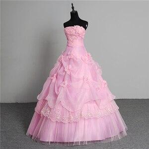 Image 4 - 3 צבע פרחים חדש 2020 קוריאני סגנון מתוק Stapless נסיכת חתונה שמלה בתוספת גודל ורוד רטרו לוטוס כלה שמלת Vestidos דה