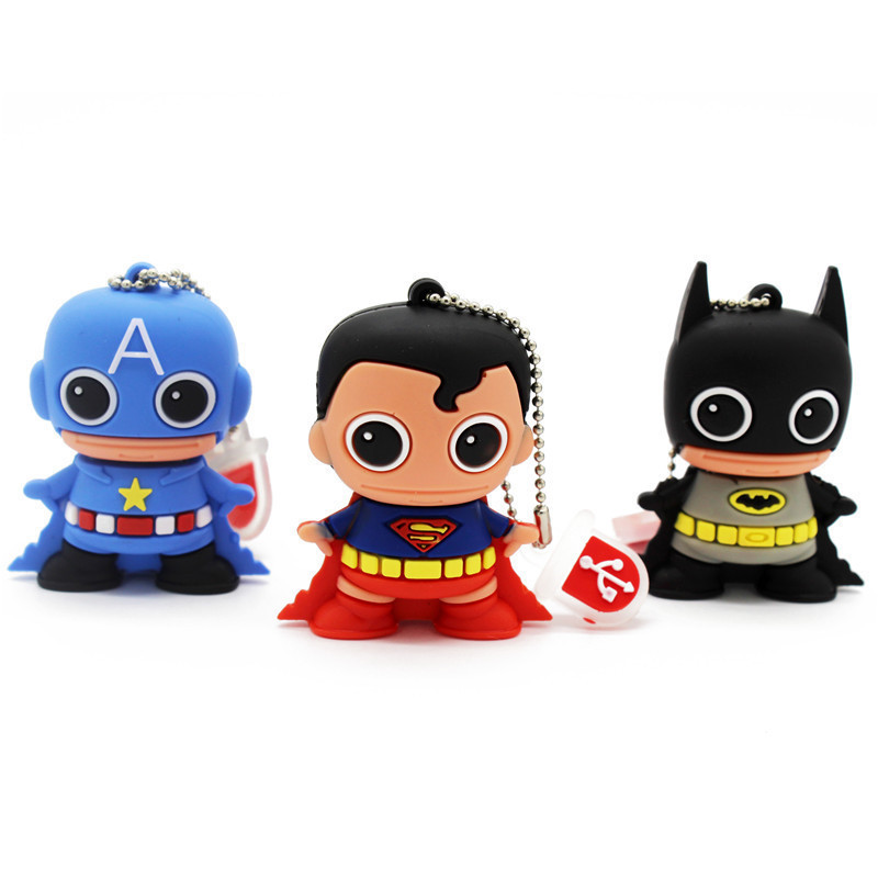 BiNFUL Pendrive 8gb 16gb 32gb 64gb Superhero Superman/Batman/Captain America/ Usb Flash Drive