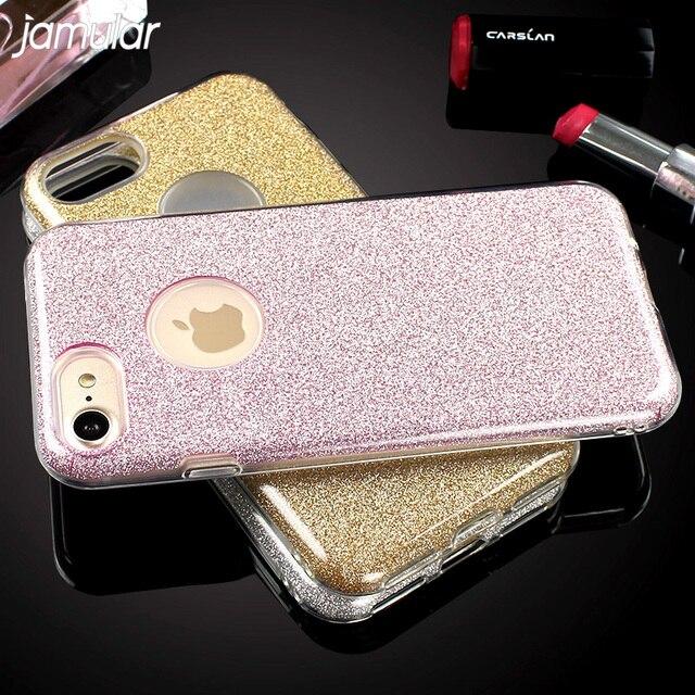 JAMULAR Bling Glitter Phone Case For Xiaomi Redmi 4X Lovely 3 in 1 Phone Cases Cover For Xiaomi Redmi Note 4X Fundas Coque