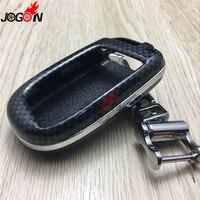 In fibra di carbonio look smart remote key fob caso bag borsette holder Anello Della Catena chiave Copertura Per Dodge Journey 2013 2014 2015 2016