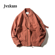 Jvzkass 2018 new Baseball uniform female spring and autumn students bf loose pilot jacket retro Z183