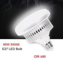 金属 85 ワット 5500 k 220 ボルト LED 写真照明スタジオビデオ昼光ランプ E27 電球写真スタジオソフトボックスストロボライト