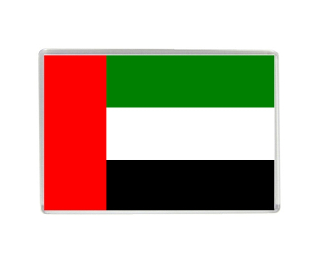 United arab emirates flag quality acrylic fridge magnets world tourism souvenirs refrigerator magnetic stickers collection