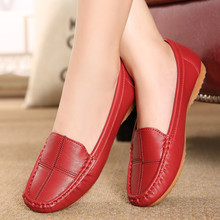 Free shipping leather shoes middle-aged mother shoes tendon at the end skid shoes shallow mouth soft bottom new work shoes 39 40