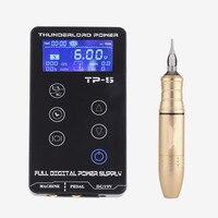 BIOMASER Профессиональный TP 5 Электропитание для тату наборы роторный пистолет ЖК тату источник питания ручка для тату Набор