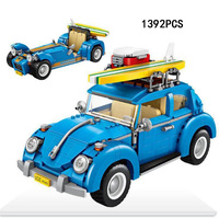 Creator city vehicle VW Beetle Caterham 2in1 mini blocks assemable building bricks same with 10252 toys for gifts collection