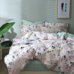 TUTUBIRD-leaf print floral bedding set bed linen duvet cover kids adult brief style princess home textile bedclothes bedspread