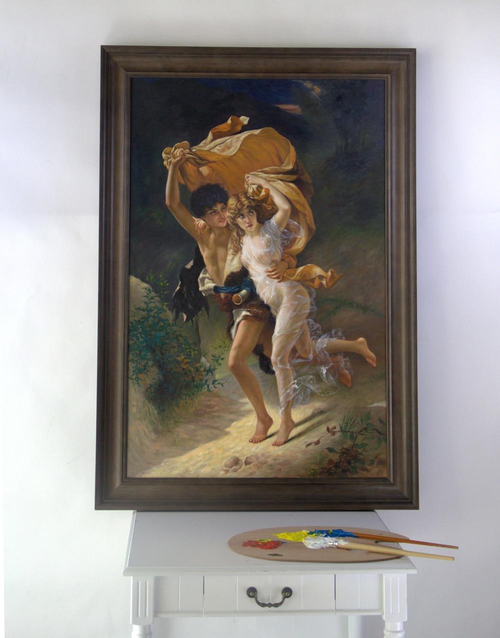 Tienda Online Enmarcado pintura al óleo sobre lienzo reproducción de ...