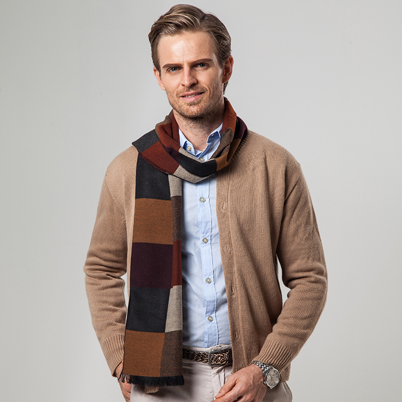 scarves large brown quality high cashmere fashion clothing for shawls item tassel wool infinity pashmina brand from men mens scarf in winter s