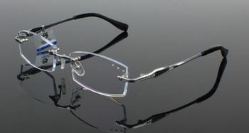 Pure Titanium Eyeglasses Frame Diamond Cutting For Edges Fashion Steady Spectacle Eyewear Unisex Decorations Optical Glasses