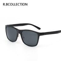 R. BCOLLECTION Liga de Alumínio E Magnésio Óculos Polarizados Óculos de Sol Dos Homens Óculos de Sol Da Moda Full Frame óculos de Personalidade Óculos De Sol Esportivo J8587