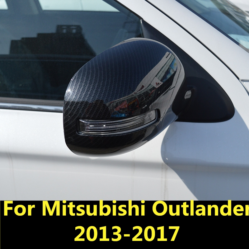 stainless steel Rearview Mirror Cover Trim For Mitsubishi Outlander 2013-2017