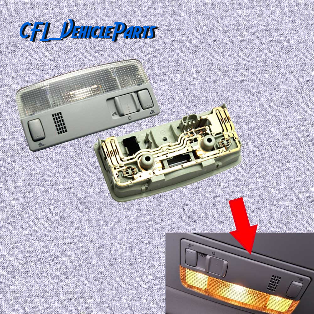 Car Front Interior Light Ceiling light Caravan Camper Reading Light 1TD947105 for <font><b>VW</b></font> Transporter <font><b>T5</b></font> Caddy 2K Passat Golf Mk4 image