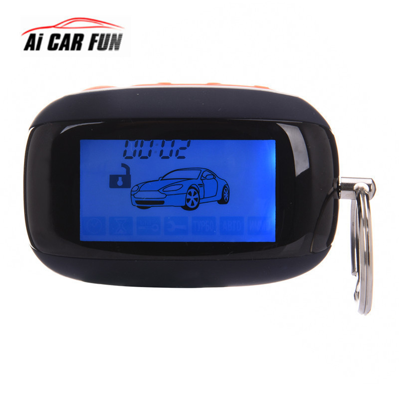 High quality Car Alarm System LCD Remote Control 2 Way For Starline B92 Russian Version 2 Way Car Alarm System Remote Control starline b64 2 can slave