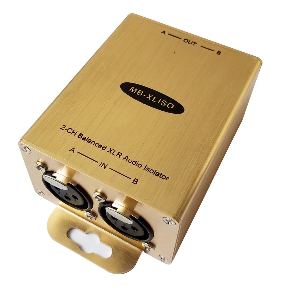 цена на Balanced XLR Audio Isolation Transformer XLR Audio isolator Analog AES/EBU Audio isolator