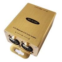Balanced XLR Audio Isolation Transformer XLR Audio Isolator Analog AES EBU Audio Isolator